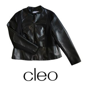 Women's Cleo Faux Leather Jacket Size Large
